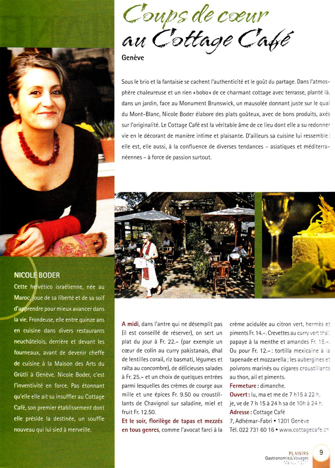 Plaisirs Gastronomie Voyages – mai/juin 2011