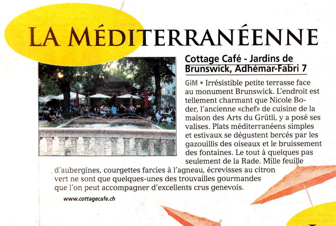 Tribune de Genève – La Méditerranéenne