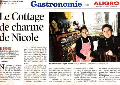 Tribune de Genève – octobre 2011